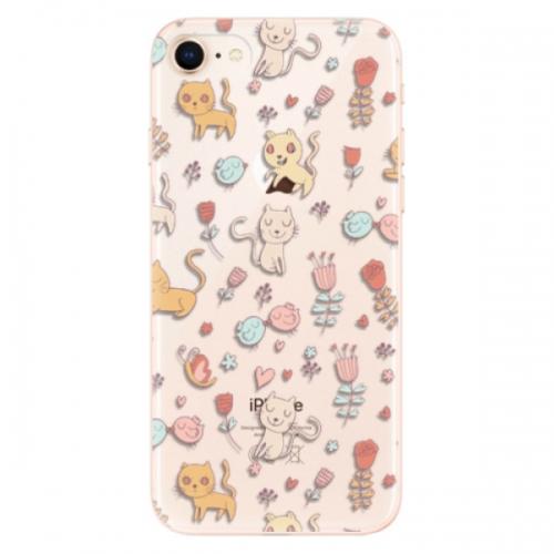 Odolné silikonové pouzdro iSaprio - Cat pattern 02 - iPhone 8