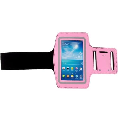 Sportovní pouzdro pro iPhone 6 / 6S / Samsung Galaxy S3 / S4 / S5 světle růžová