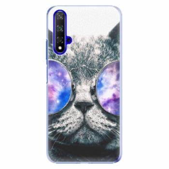 Plastové pouzdro iSaprio - Galaxy Cat - Huawei Honor 20