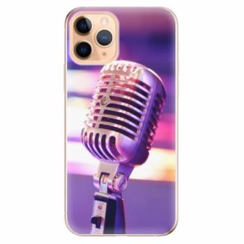 Odolné silikonové pouzdro iSaprio - Vintage Microphone - iPhone 11 Pro