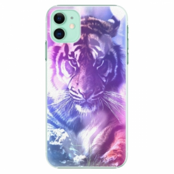 Plastové pouzdro iSaprio - Purple Tiger - iPhone 11
