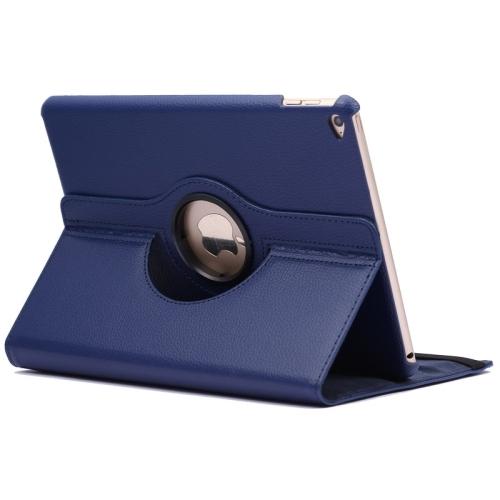 Kožený kryt / pouzdro Smart Cover Rotation Litchi pro iPad Air 2 modrý