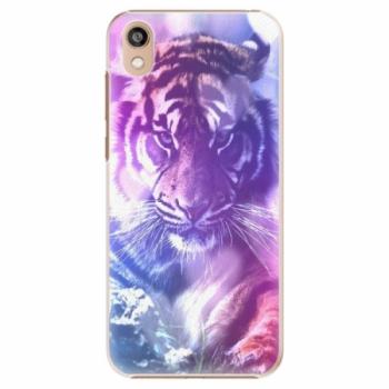 Plastové pouzdro iSaprio - Purple Tiger - Huawei Honor 8S