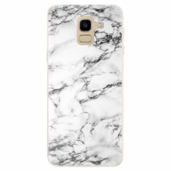 Odolné silikonové pouzdro iSaprio - White Marble 01 - Samsung Galaxy J6