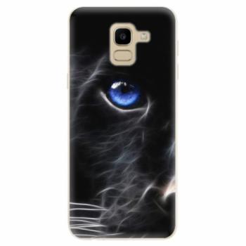 Odolné silikonové pouzdro iSaprio - Black Puma - Samsung Galaxy J6