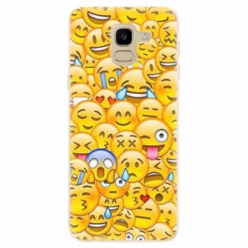 Odolné silikonové pouzdro iSaprio - Emoji - Samsung Galaxy J6