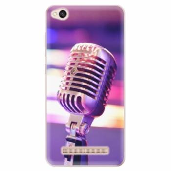 Odolné silikonové pouzdro iSaprio - Vintage Microphone - Xiaomi Redmi 4A