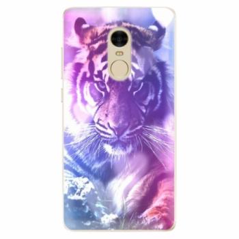 Odolné silikonové pouzdro iSaprio - Purple Tiger - Xiaomi Redmi Note 4