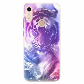 Plastové pouzdro iSaprio - Purple Tiger - Huawei Honor 8A