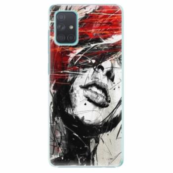 Plastové pouzdro iSaprio - Sketch Face - Samsung Galaxy A71