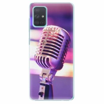 Plastové pouzdro iSaprio - Vintage Microphone - Samsung Galaxy A71