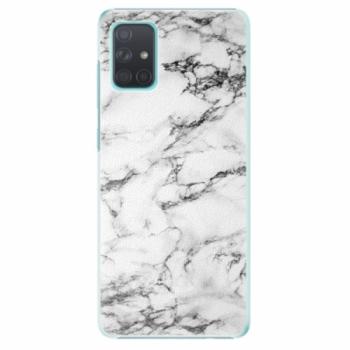 Plastové pouzdro iSaprio - White Marble 01 - Samsung Galaxy A71