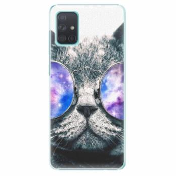 Plastové pouzdro iSaprio - Galaxy Cat - Samsung Galaxy A71
