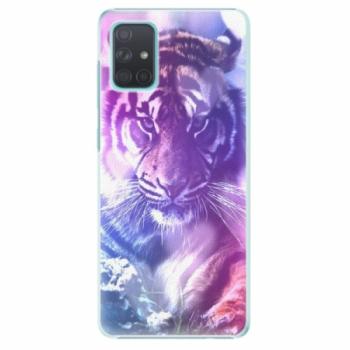 Plastové pouzdro iSaprio - Purple Tiger - Samsung Galaxy A71