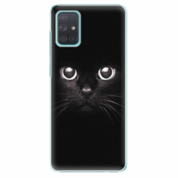 Plastové pouzdro iSaprio - Black Cat - Samsung Galaxy A71