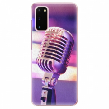 Plastové pouzdro iSaprio - Vintage Microphone - Samsung Galaxy S20