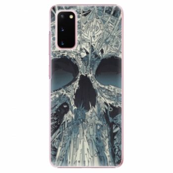 Plastové pouzdro iSaprio - Abstract Skull - Samsung Galaxy S20