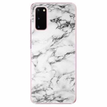 Plastové pouzdro iSaprio - White Marble 01 - Samsung Galaxy S20