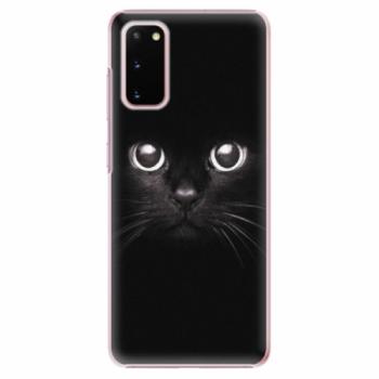Plastové pouzdro iSaprio - Black Cat - Samsung Galaxy S20