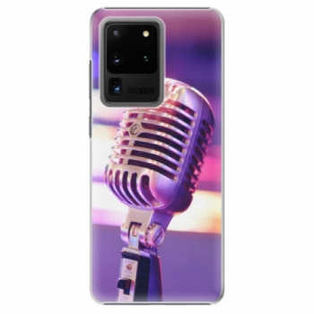 Plastové pouzdro iSaprio - Vintage Microphone - Samsung Galaxy S20 Ultra