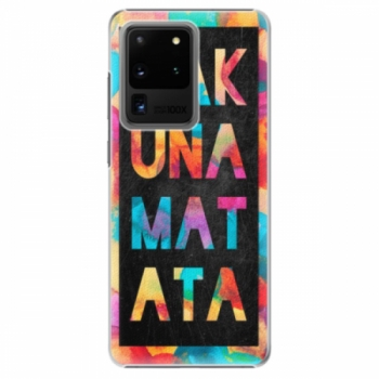 Plastové pouzdro iSaprio - Hakuna Matata 01 - Samsung Galaxy S20 Ultra