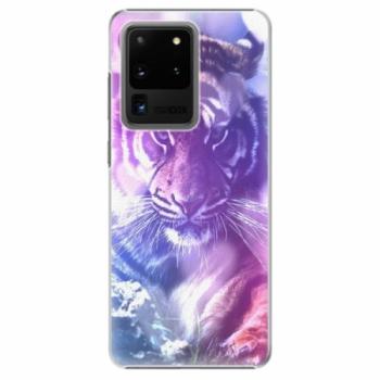 Plastové pouzdro iSaprio - Purple Tiger - Samsung Galaxy S20 Ultra