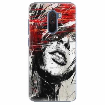 Plastové pouzdro iSaprio - Sketch Face - Xiaomi Pocophone F1