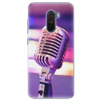 Plastové pouzdro iSaprio - Vintage Microphone - Xiaomi Pocophone F1