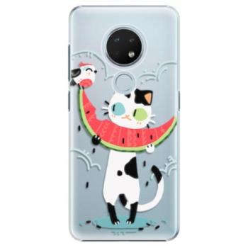 Plastové pouzdro iSaprio - Cat with melon - Nokia 6.2