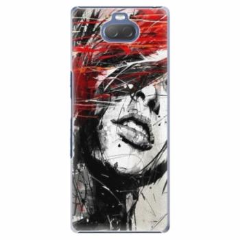 Plastové pouzdro iSaprio - Sketch Face - Sony Xperia 10