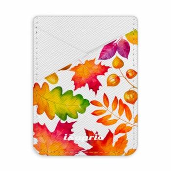 Pouzdro na kreditní karty iSaprio - Autumn Leaves 01 - světlá nalepovací kapsa