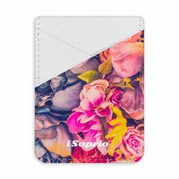Pouzdro na kreditní karty iSaprio - Beauty Flowers - světlá nalepovací kapsa