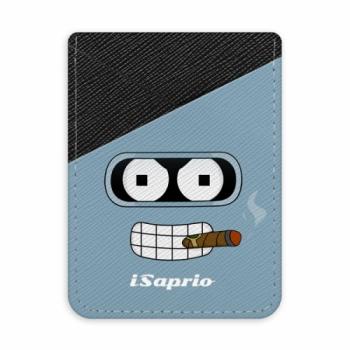 Pouzdro na kreditní karty iSaprio - Bender - tmavá nalepovací kapsa