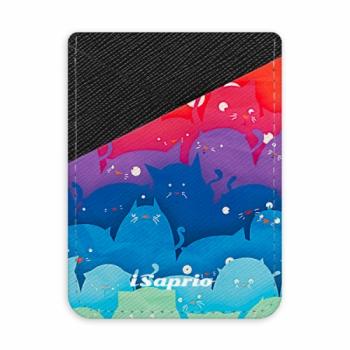 Pouzdro na kreditní karty iSaprio - Cats World - tmavá nalepovací kapsa