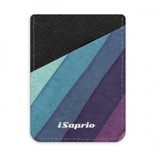 Pouzdro na kreditní karty iSaprio - Glitter Stripes 01 - tmavá nalepovací kapsa