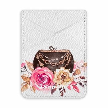 Pouzdro na kreditní karty iSaprio - Handbag 01 - světlá nalepovací kapsa
