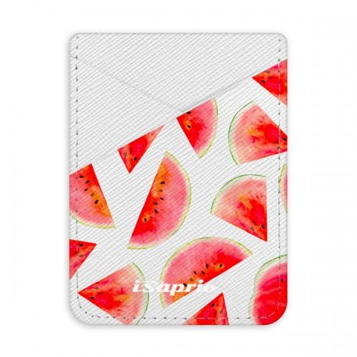Pouzdro na kreditní karty iSaprio - Melon Pattern 02 - světlá nalepovací kapsa