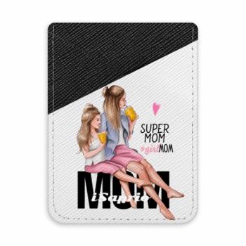 Pouzdro na kreditní karty iSaprio - Milk Shake - Blond - tmavá nalepovací kapsa