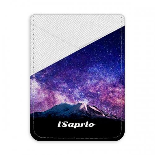 Pouzdro na kreditní karty iSaprio - Milky Way - světlá nalepovací kapsa