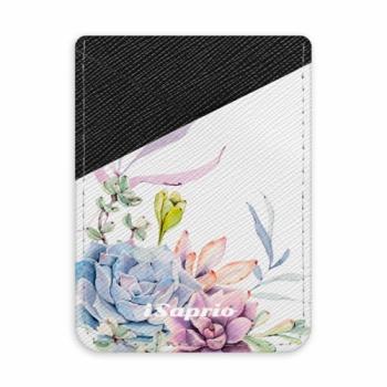 Pouzdro na kreditní karty iSaprio - Succulent 01 - tmavá nalepovací kapsa