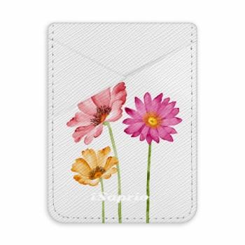 Pouzdro na kreditní karty iSaprio - Three Flowers - světlá nalepovací kapsa