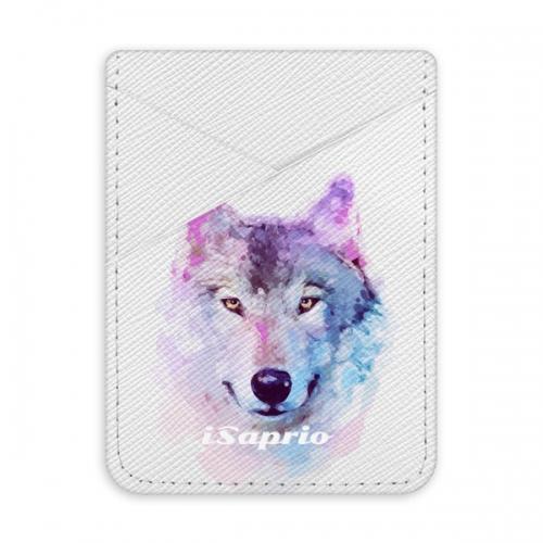 Pouzdro na kreditní karty iSaprio - Wolf 01 - světlá nalepovací kapsa