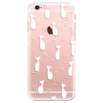 Plastové pouzdro iSaprio - Cat pattern 05 - white - iPhone 6 Plus/6S Plus