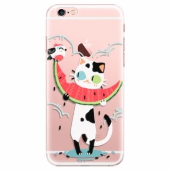 Plastové pouzdro iSaprio - Cat with melon - iPhone 6 Plus/6S Plus