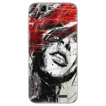 Plastové pouzdro iSaprio - Sketch Face - Huawei Ascend G7