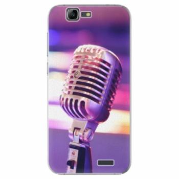 Plastové pouzdro iSaprio - Vintage Microphone - Huawei Ascend G7