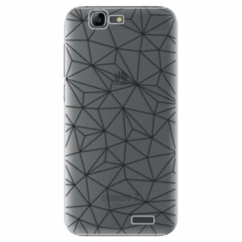 Plastové pouzdro iSaprio - Abstract Triangles 03 - black - Huawei Ascend G7