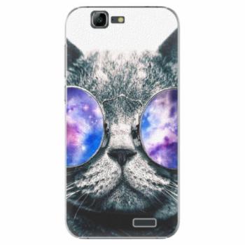 Plastové pouzdro iSaprio - Galaxy Cat - Huawei Ascend G7