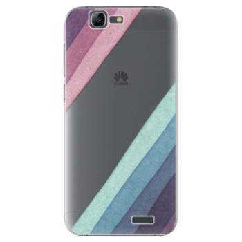 Plastové pouzdro iSaprio - Glitter Stripes 01 - Huawei Ascend G7
