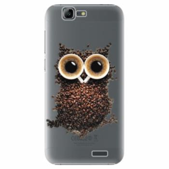 Plastové pouzdro iSaprio - Owl And Coffee - Huawei Ascend G7